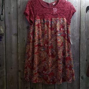 NEW Paisley Tunic Top Dress 2x